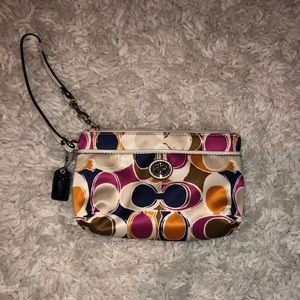 Coach MULTICOLORED Logo Wristlet